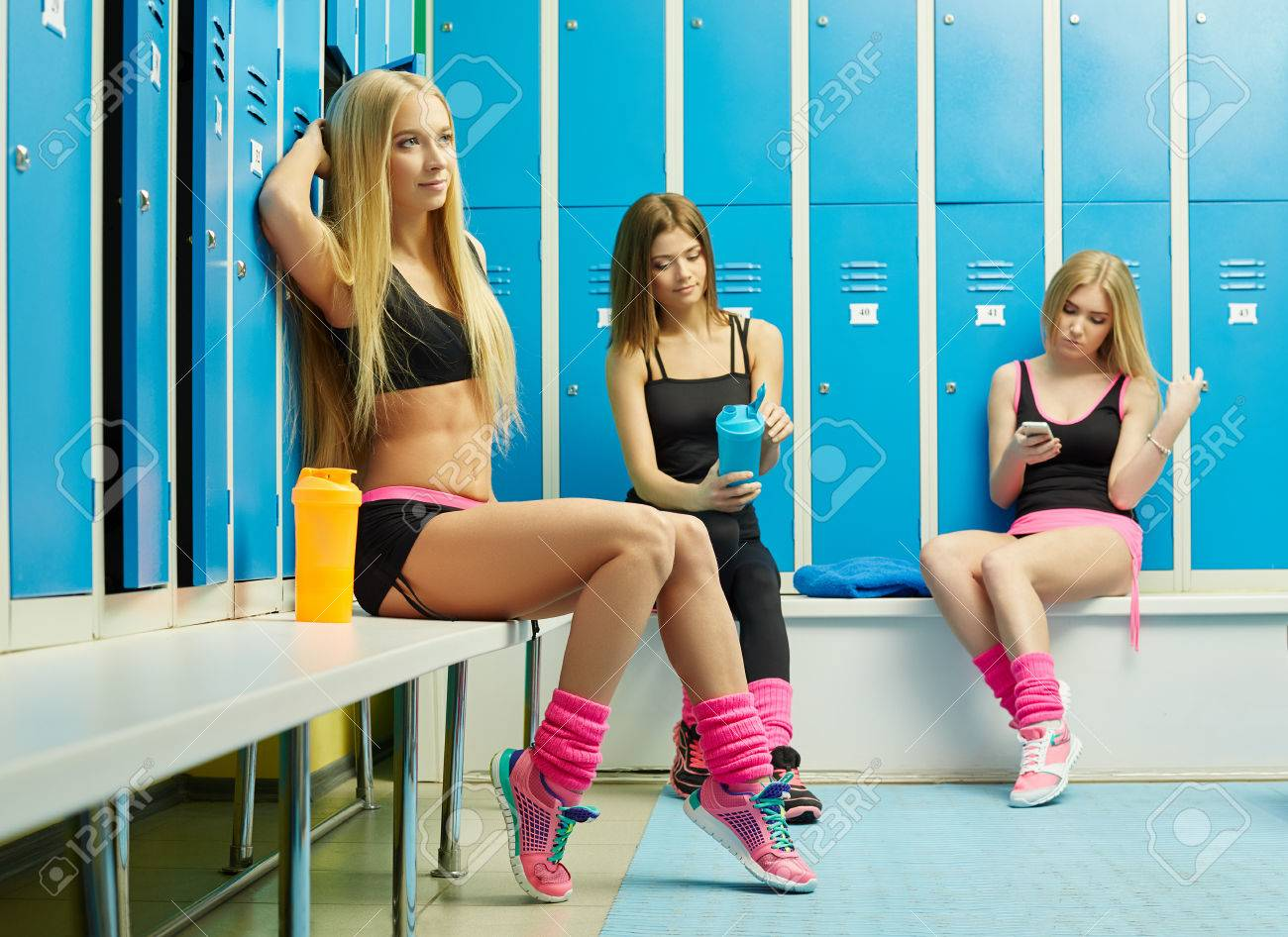 Locker room babes