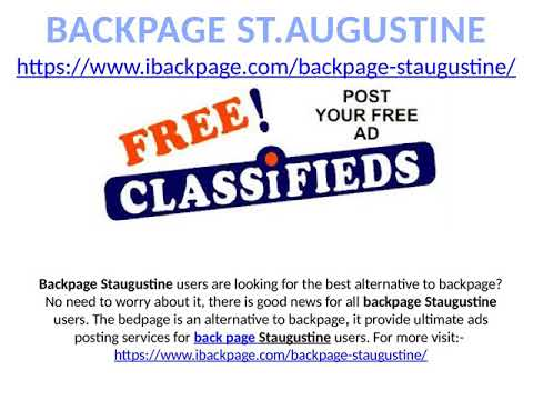 Backpage st augustine