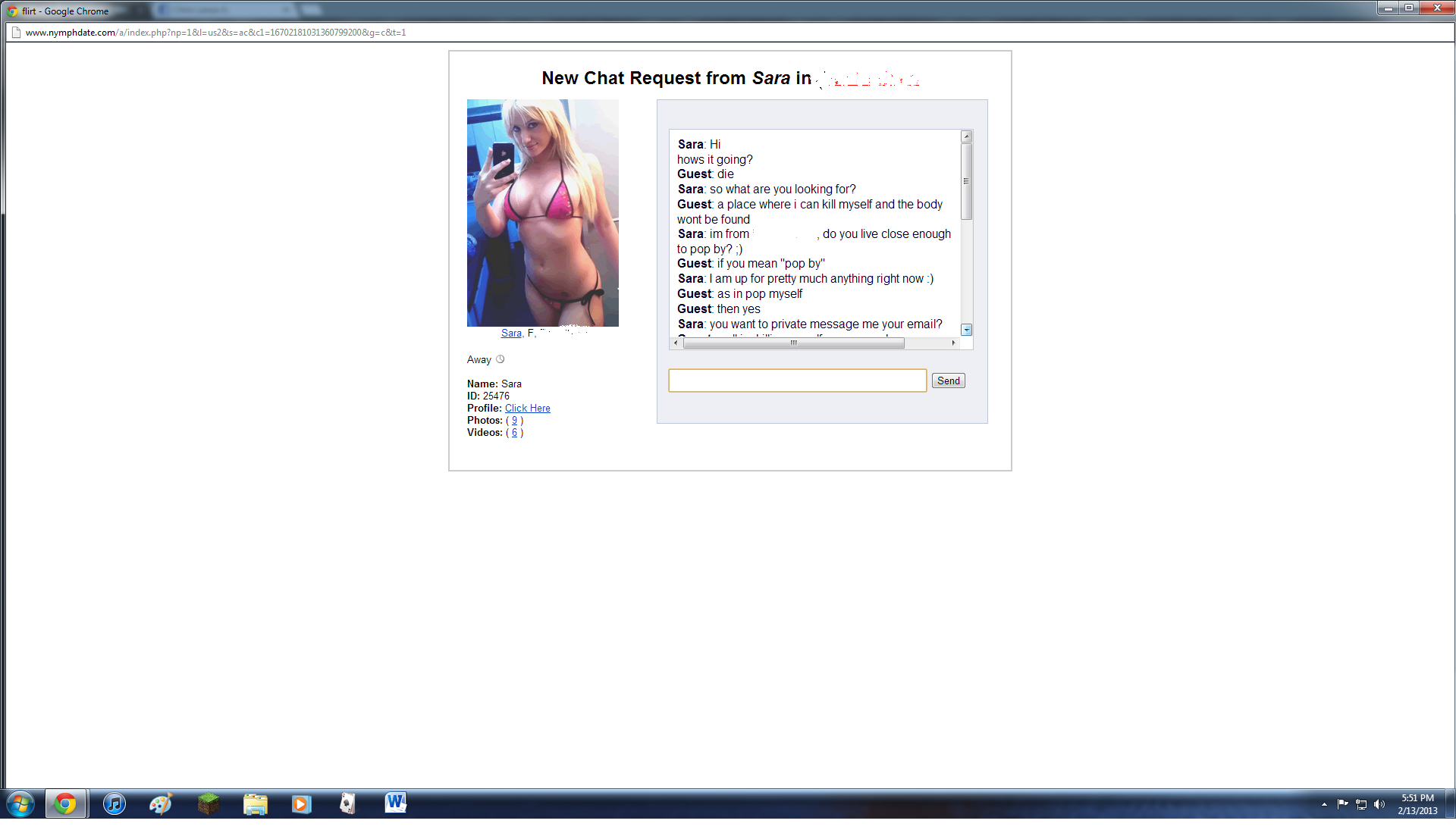 Sexy chat software