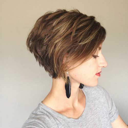 Pixie haircut with long layers