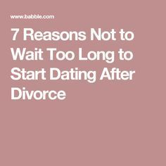 When should you start dating after separation