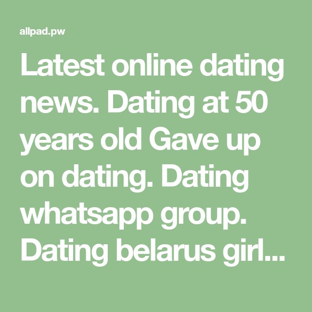 Gave up on online dating