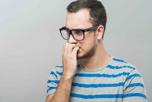 Signs of nervousness in guys