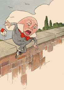 How did humpty dumpty fall