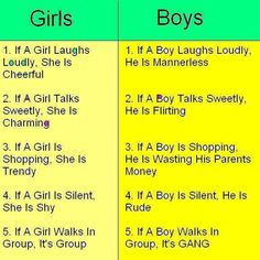 Boys and girls facts