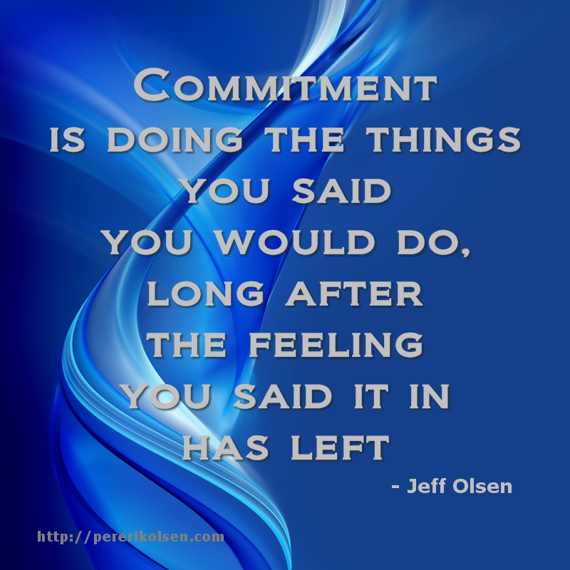 What is fear of commitment