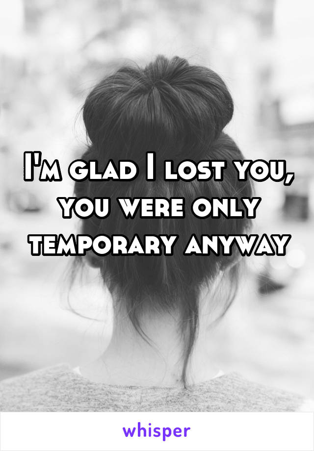 Im lost with you