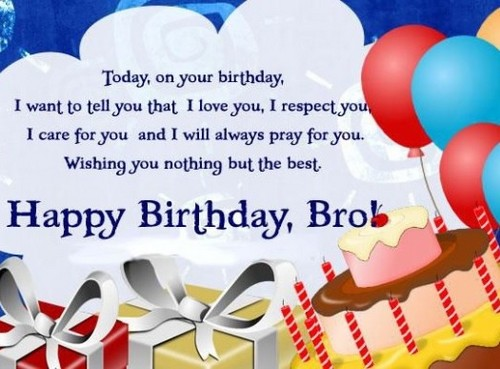 Bday sms for brother