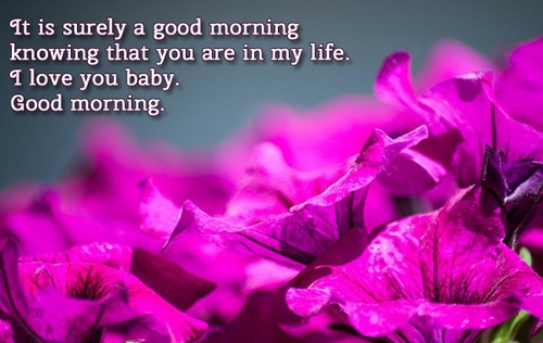 A romantic good morning message