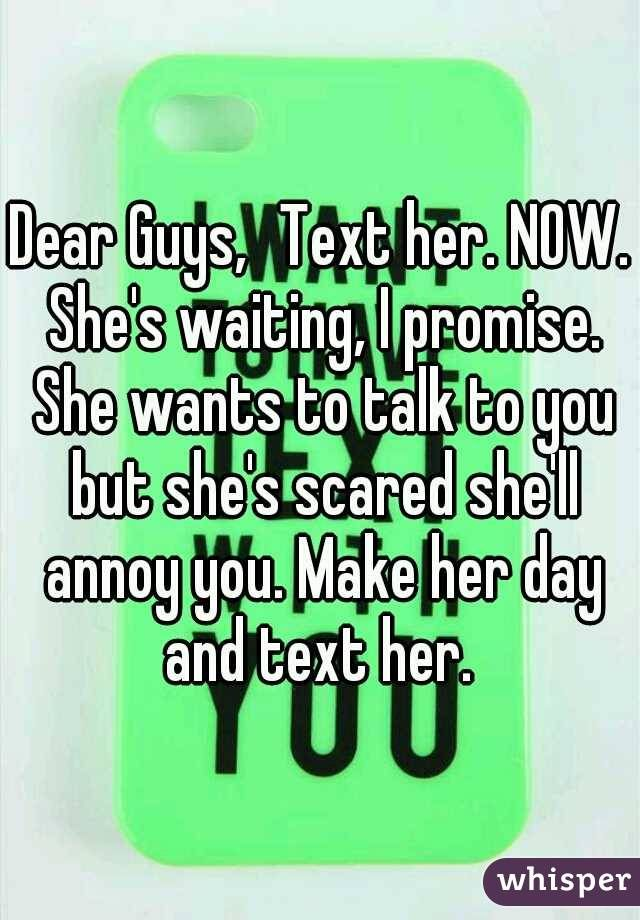 Do guys like it when girls text first