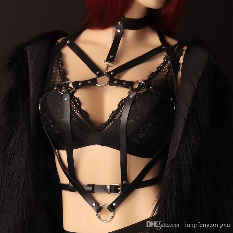 Sexy leather harness