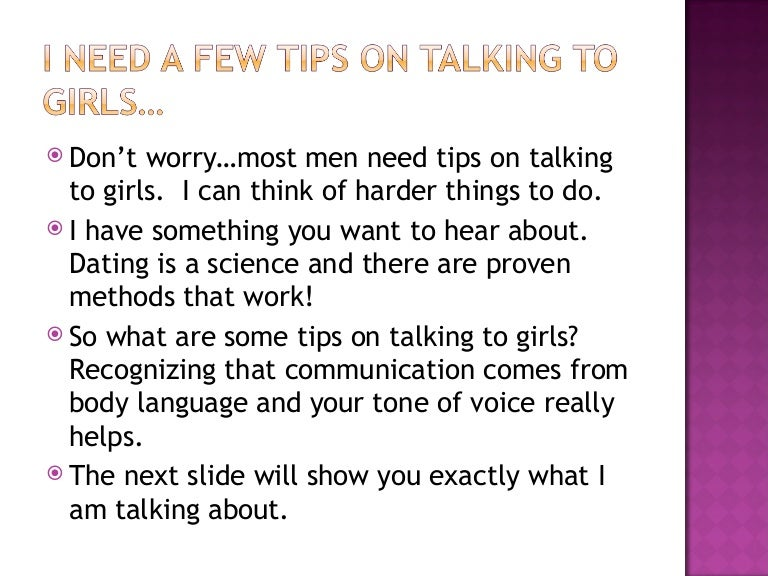 Advice for talking to girls
