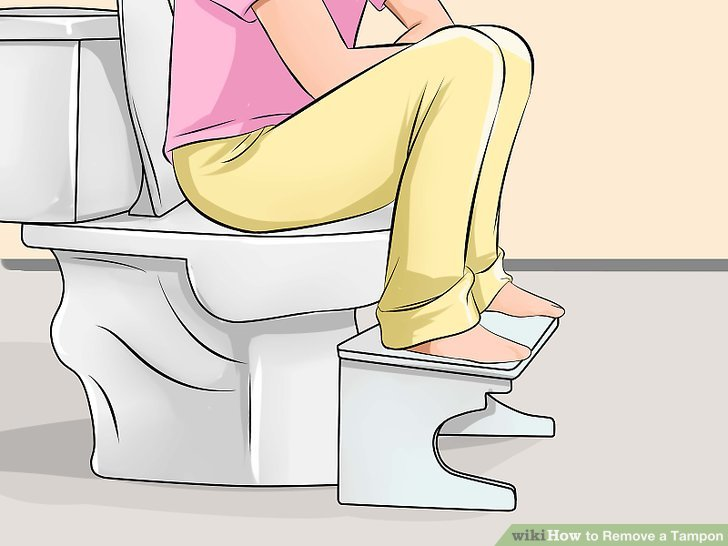 How to take out a stuck tampon