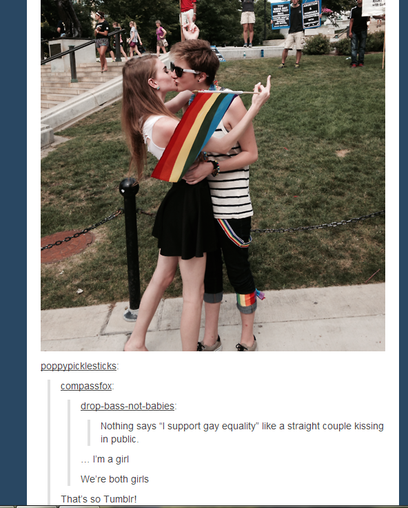 Straight and gay tumblr