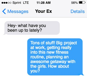 What to say to your ex boyfriend after no contact