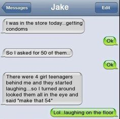 Cocky and funny text messages