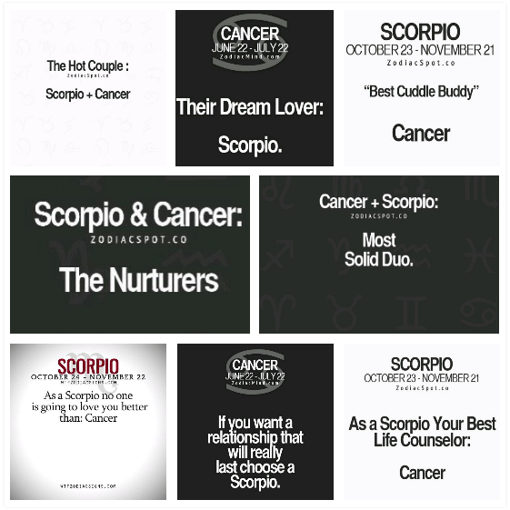 Relationship between scorpio man and cancer woman