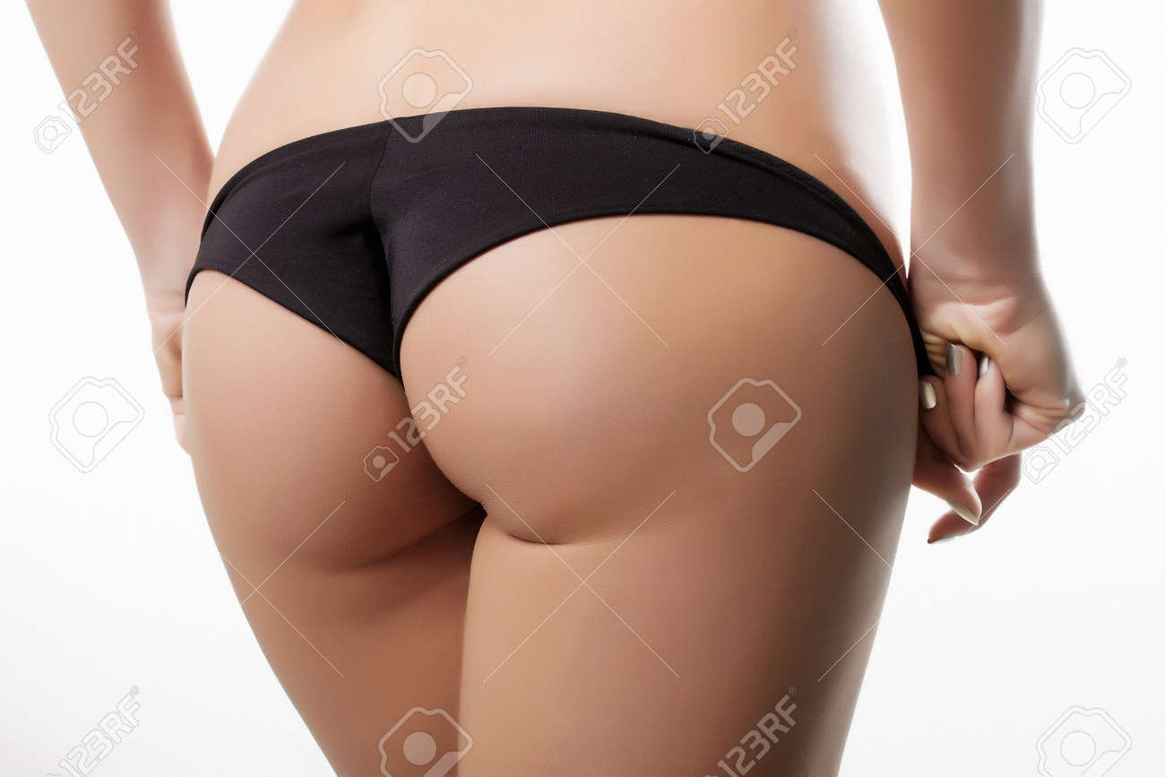Black ass panties