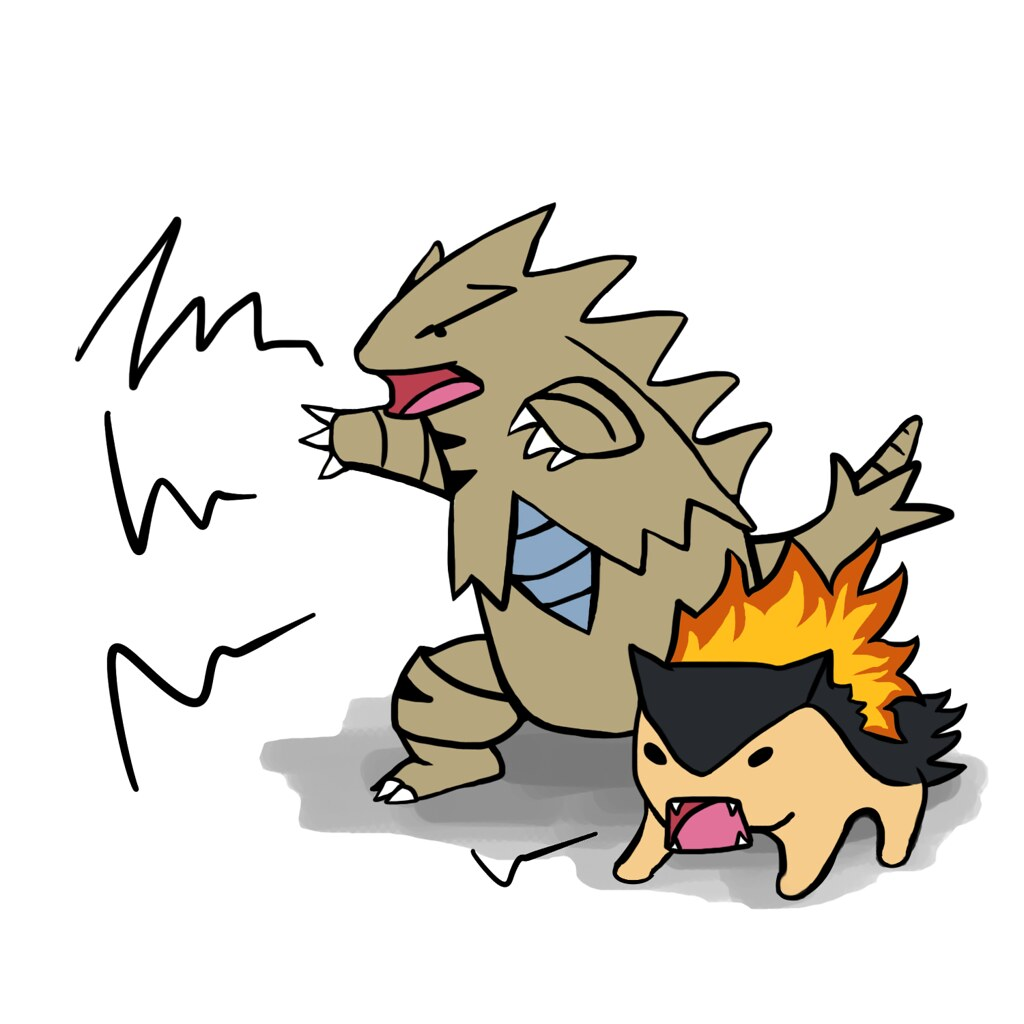 Typhlosion and tyranitar