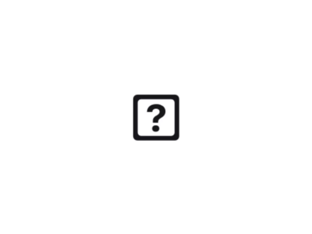 A with question mark on iphone