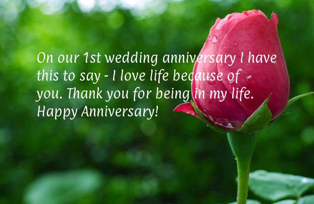 Message to my husband on our wedding anniversary