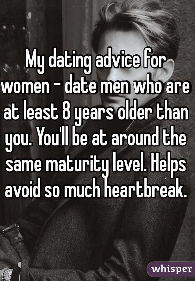 Dating a girl 8 years older