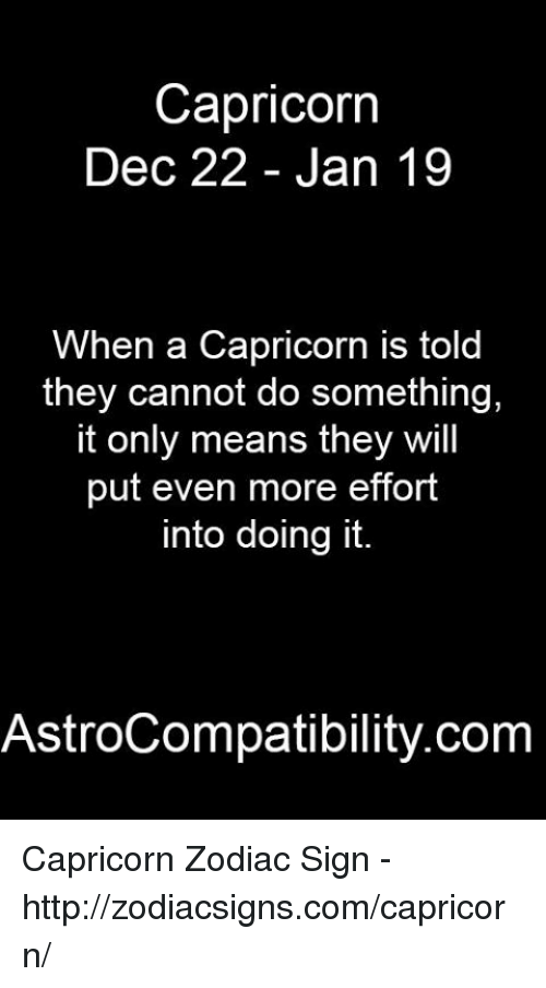 What it means to be a capricorn