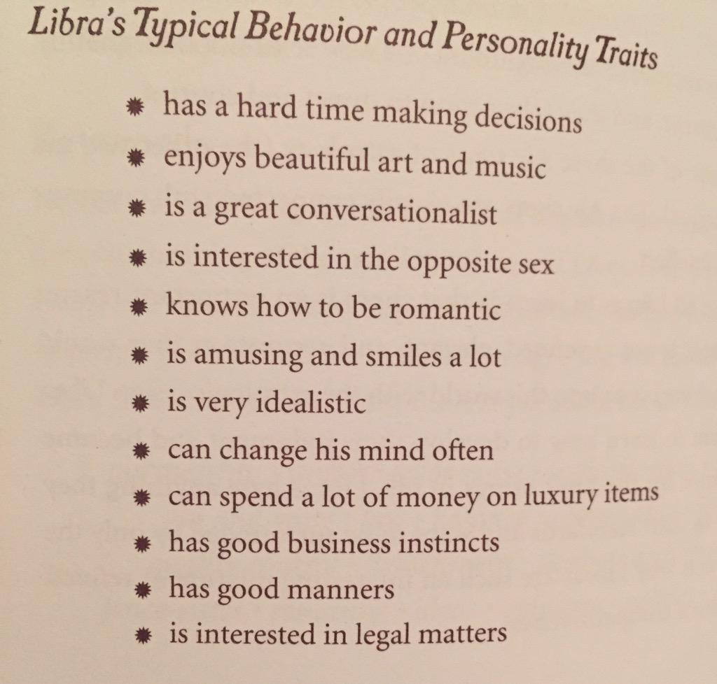Libra personality traits list
