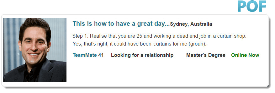 About me for dating site examples