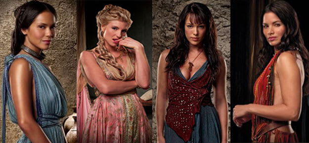 Women of spartacus naked