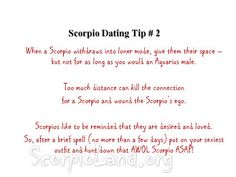 Scorpio man dating site
