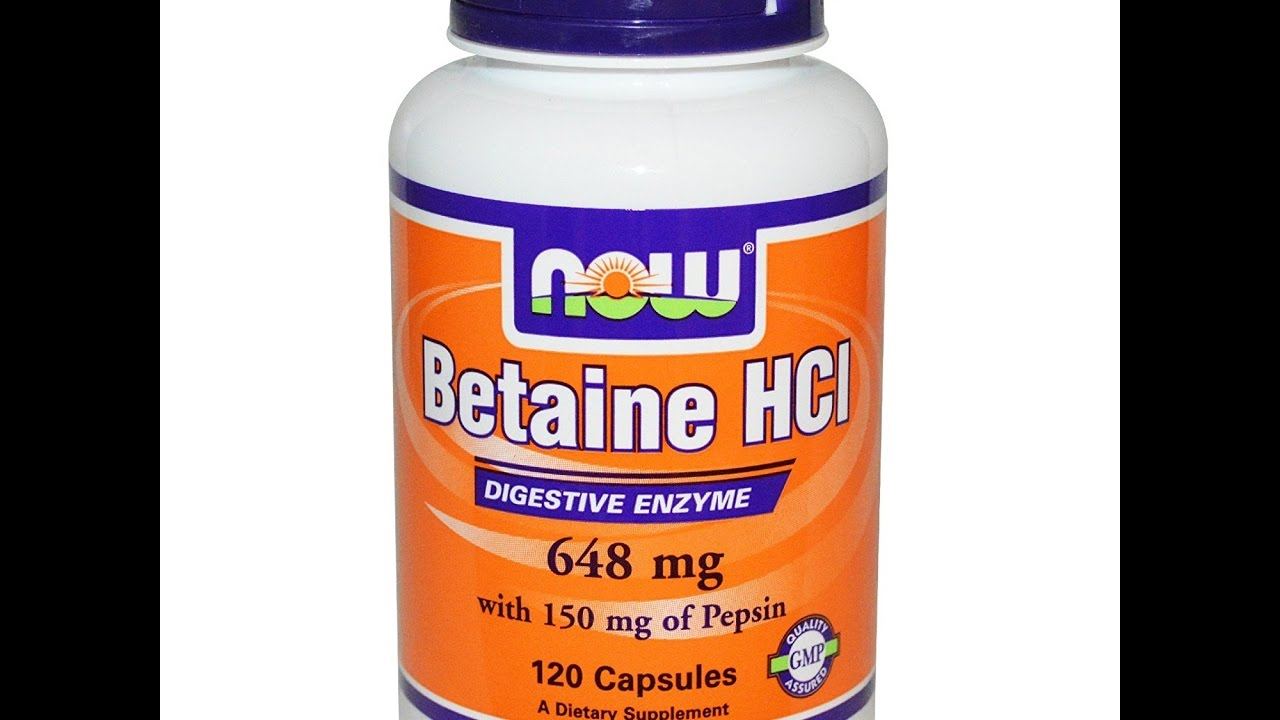Betaine hydrochloride with pepsin benefits