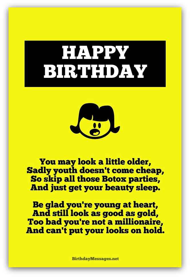 Birthday poems for girlfriend funny