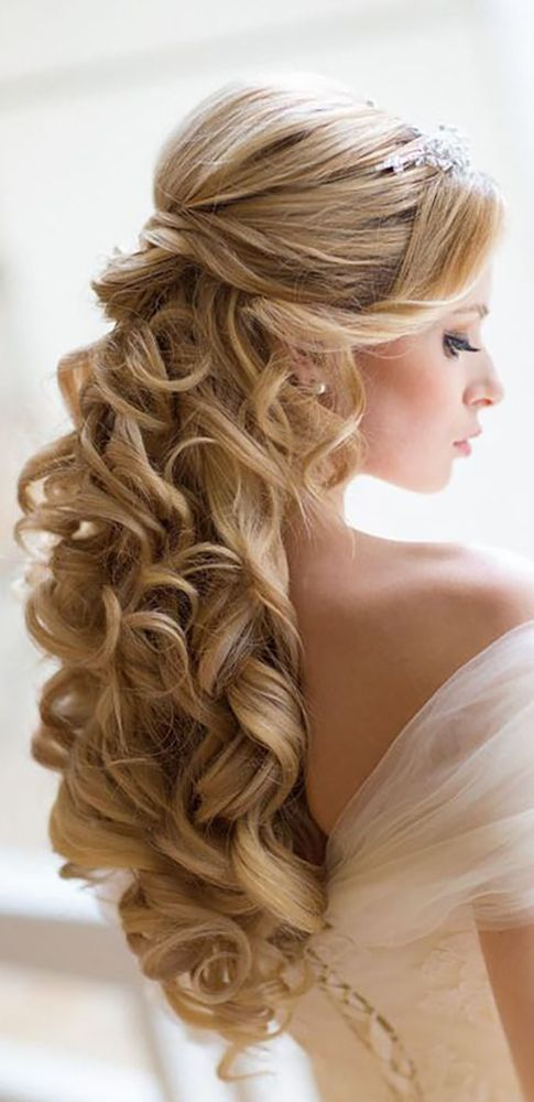 Brides hairstyles for long hair