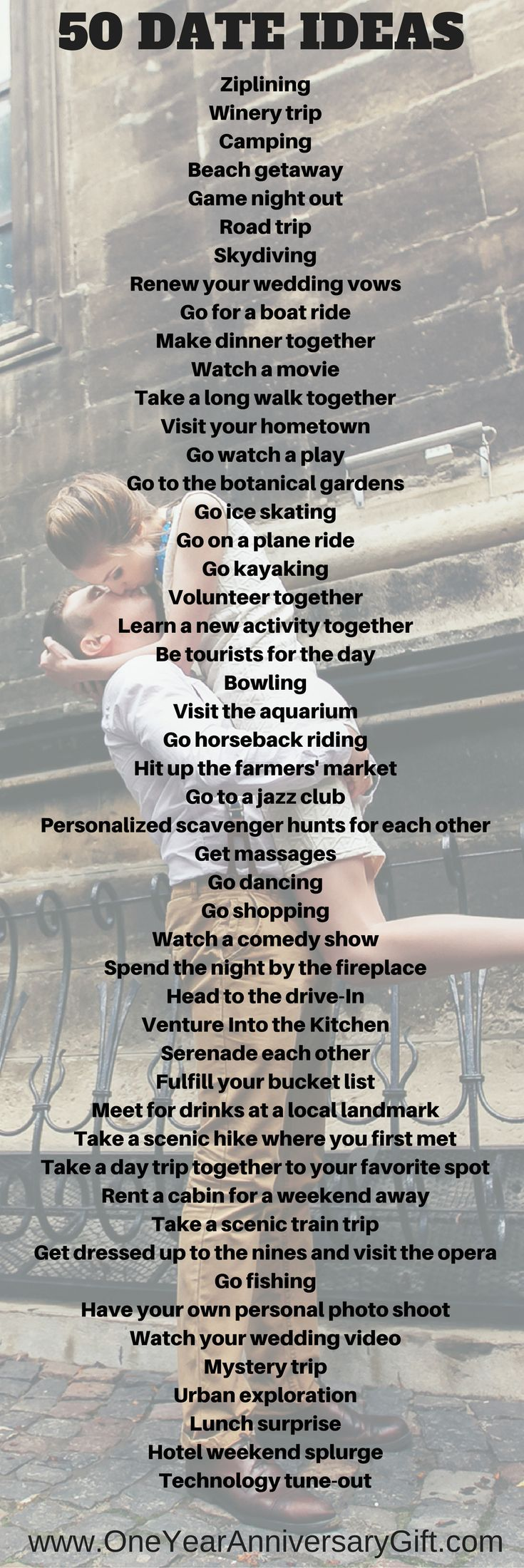 Date ideas for one year anniversary