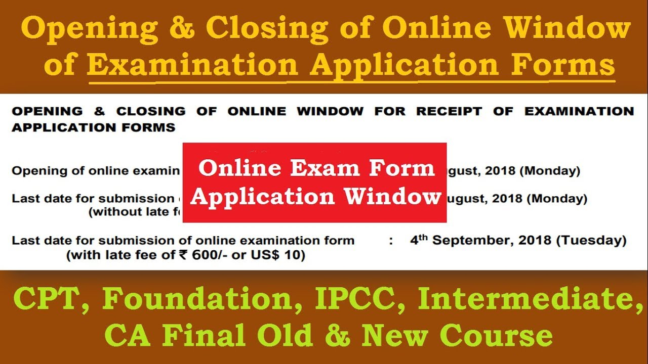 Ca online form last date