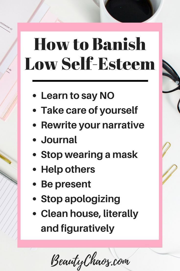 Things to say to a girl with low self esteem