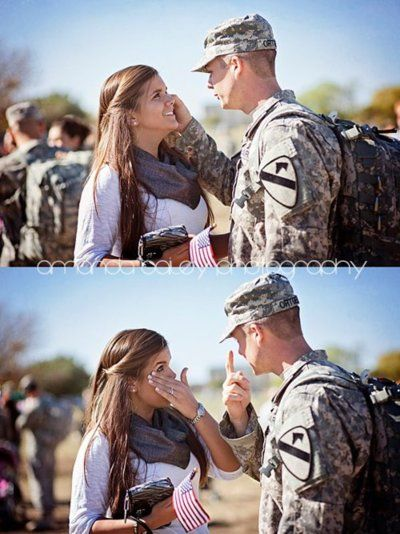 Dating soldiers and their homecoming