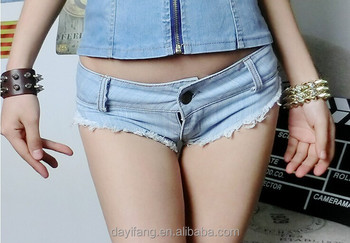 Sexy low rise jeans on girl