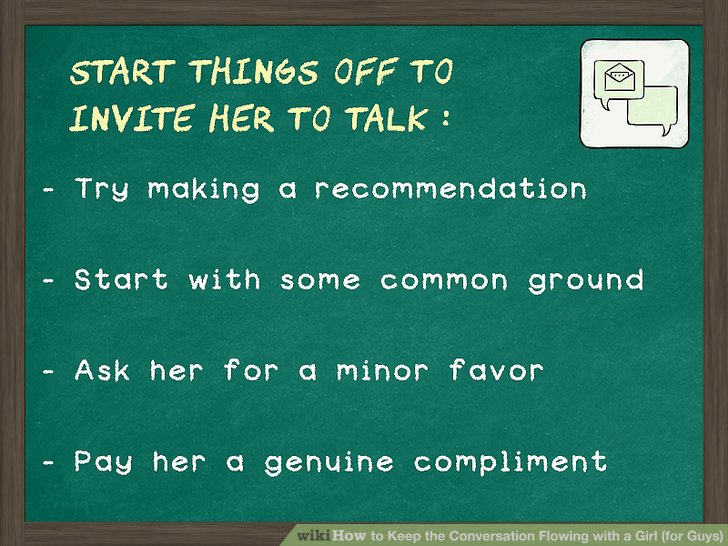 What to ask a girl to start a conversation