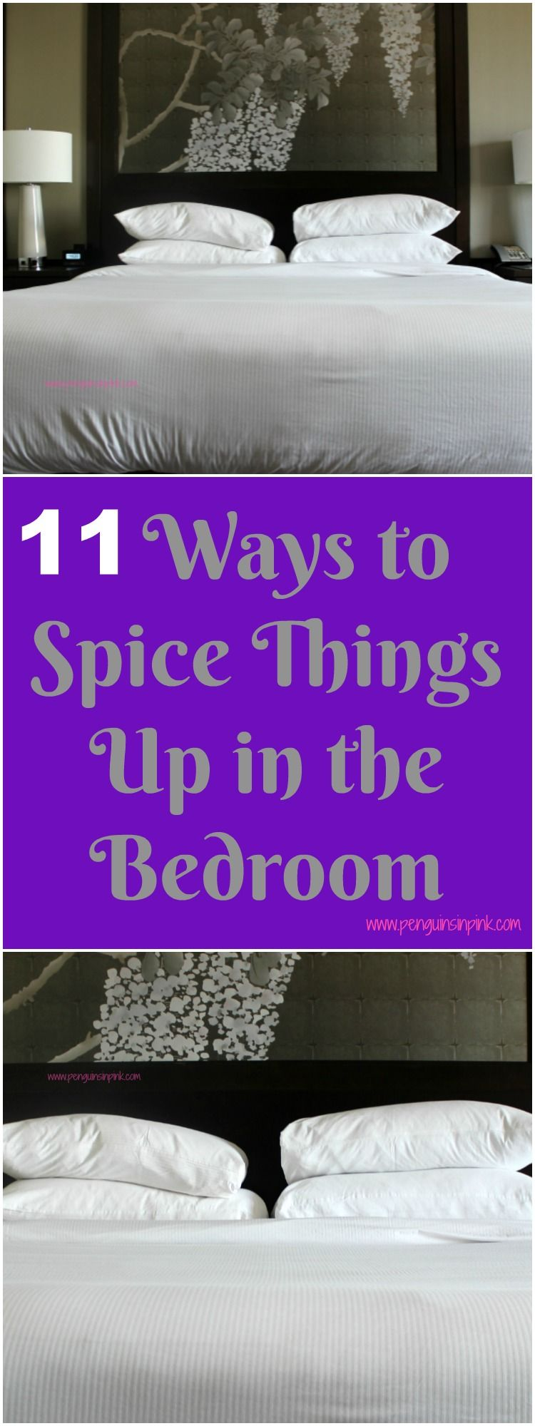 Fun things to spice up the bedroom