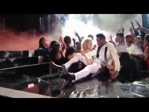 Miguel falls on girl