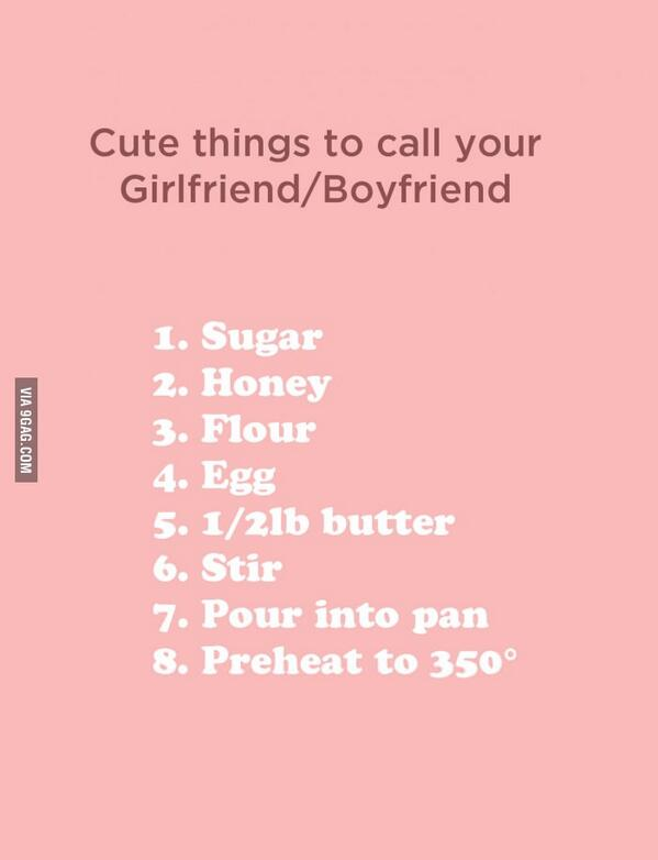 Girl friend pet names