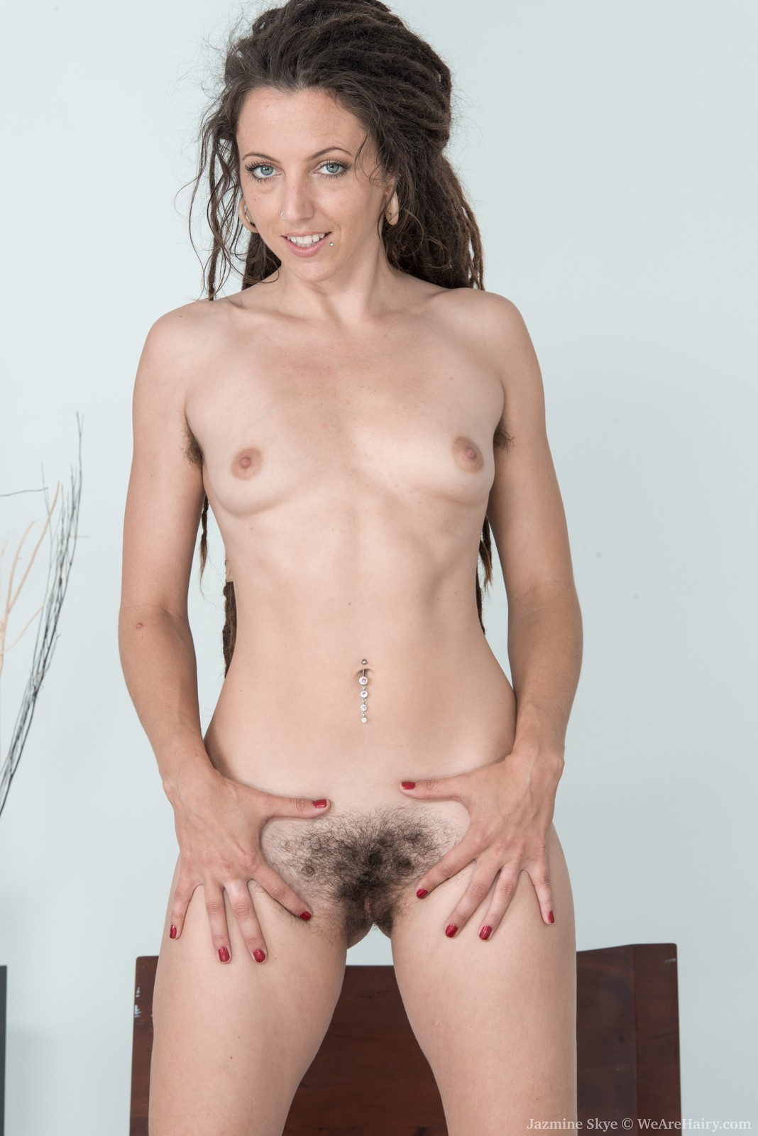 Hirsute women naked