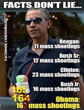 How many mass shootings under obama