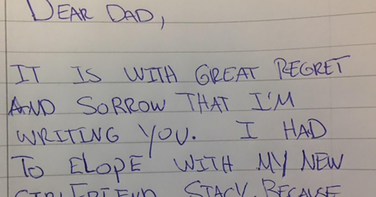 Letters from dad to son