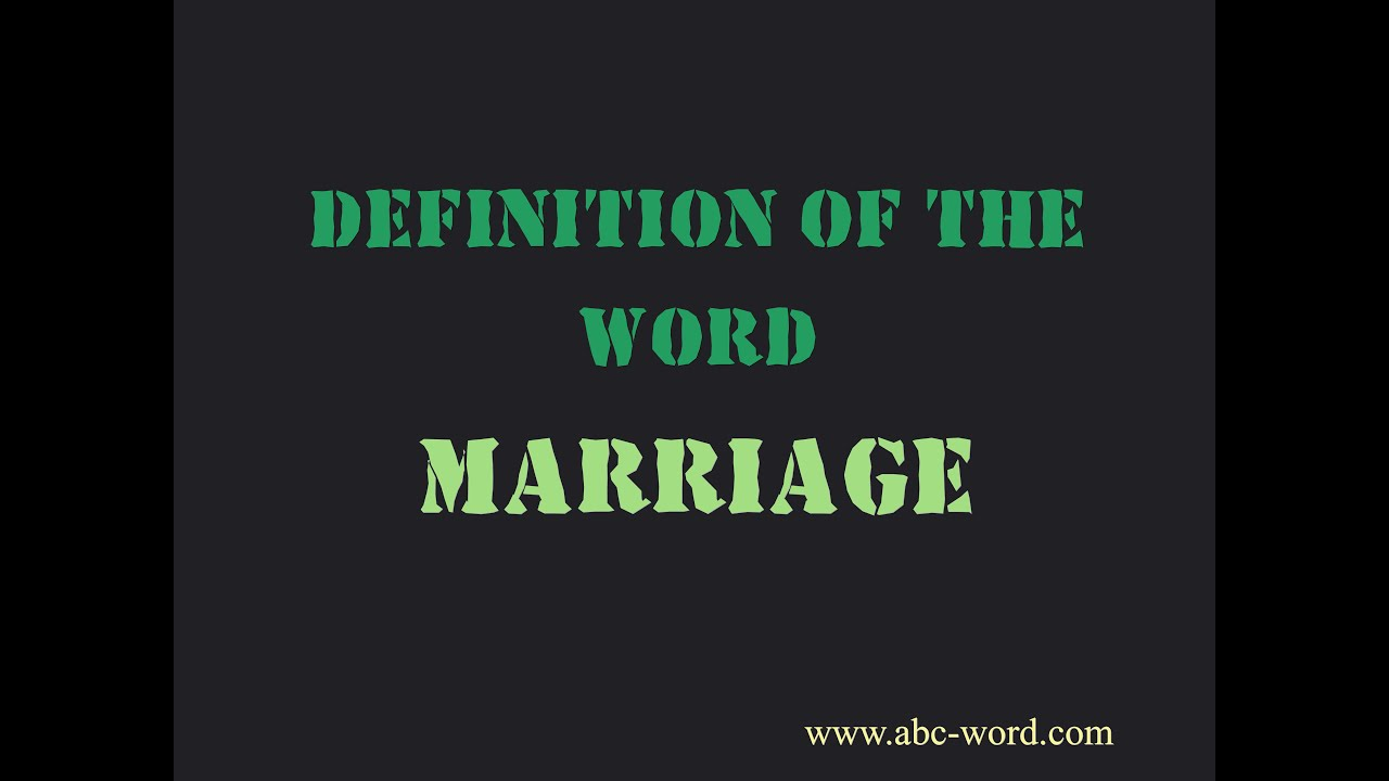 Origin of the word marriage