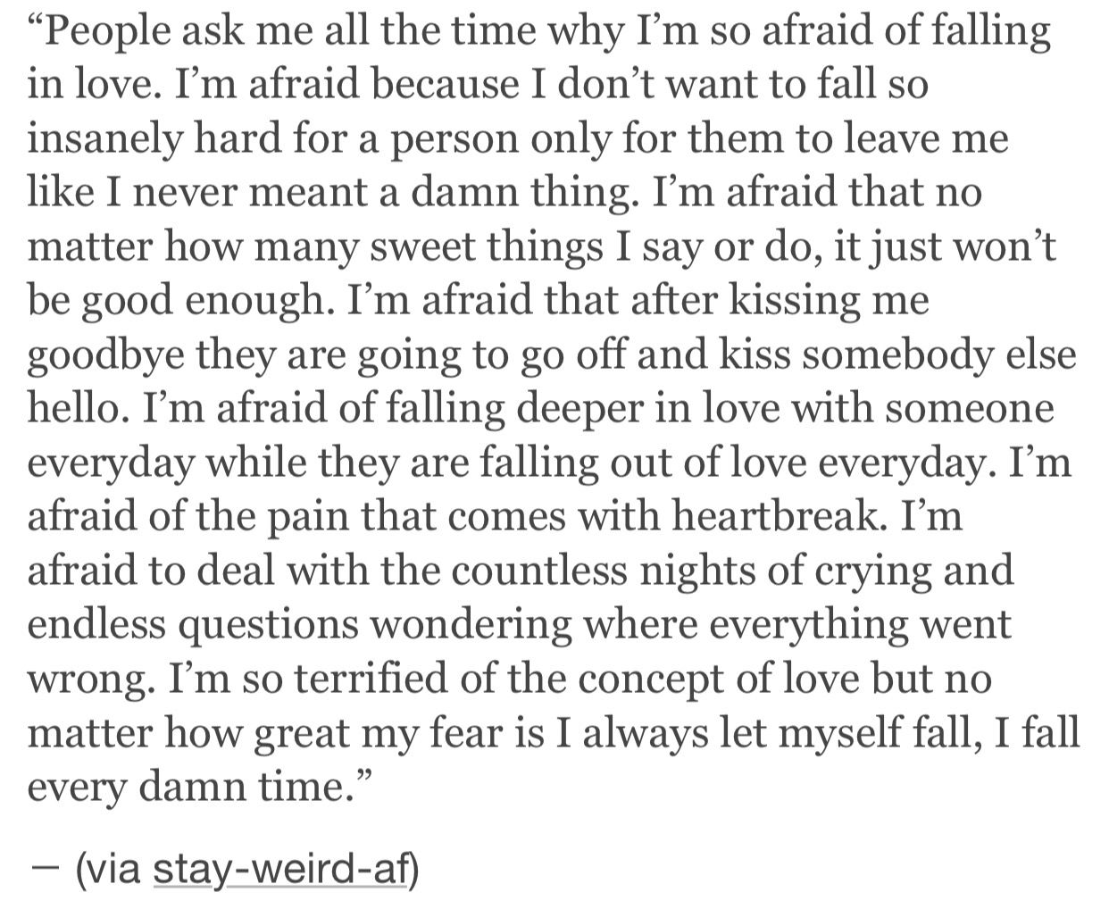 Why to fall in love