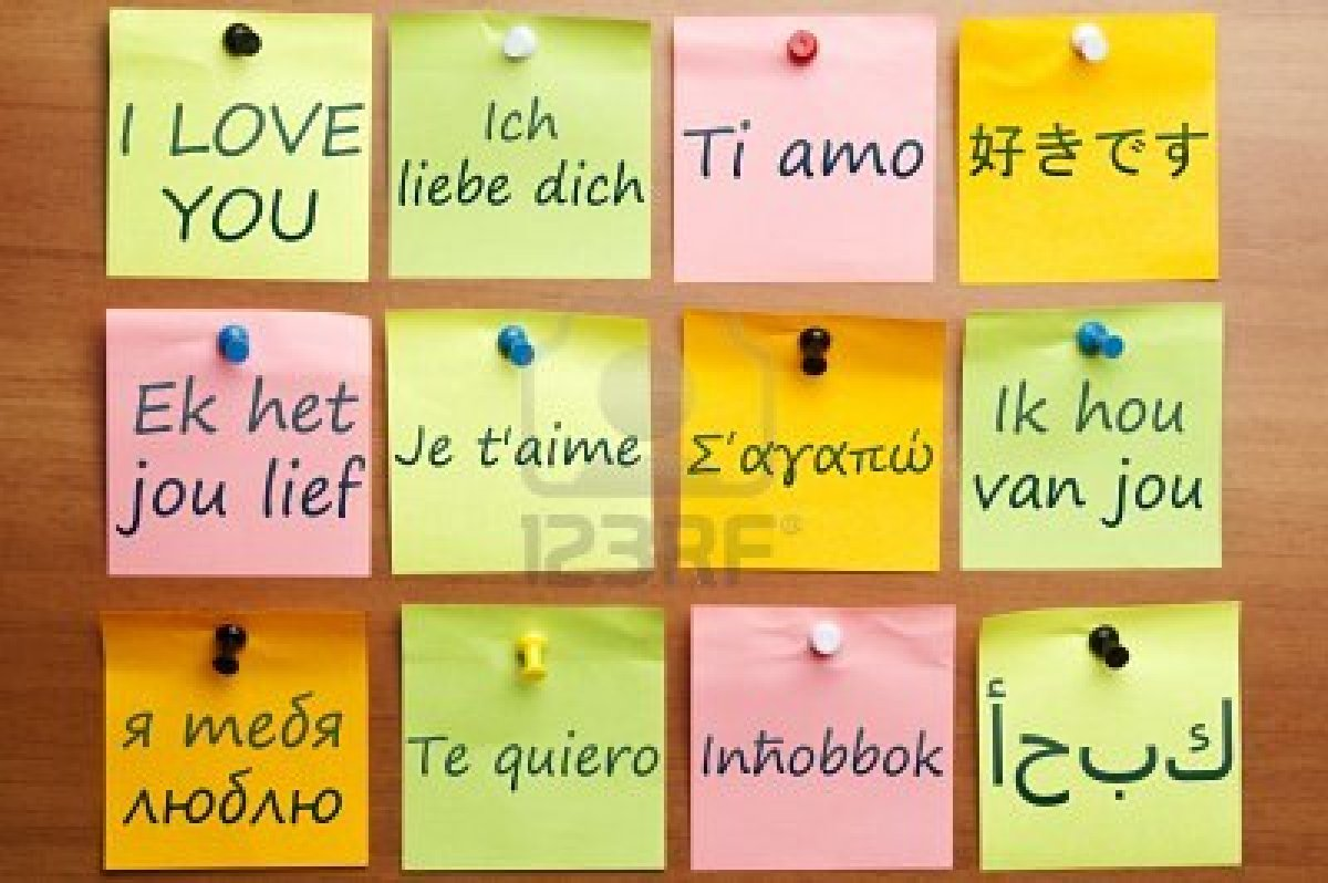 Write i love you in different languages