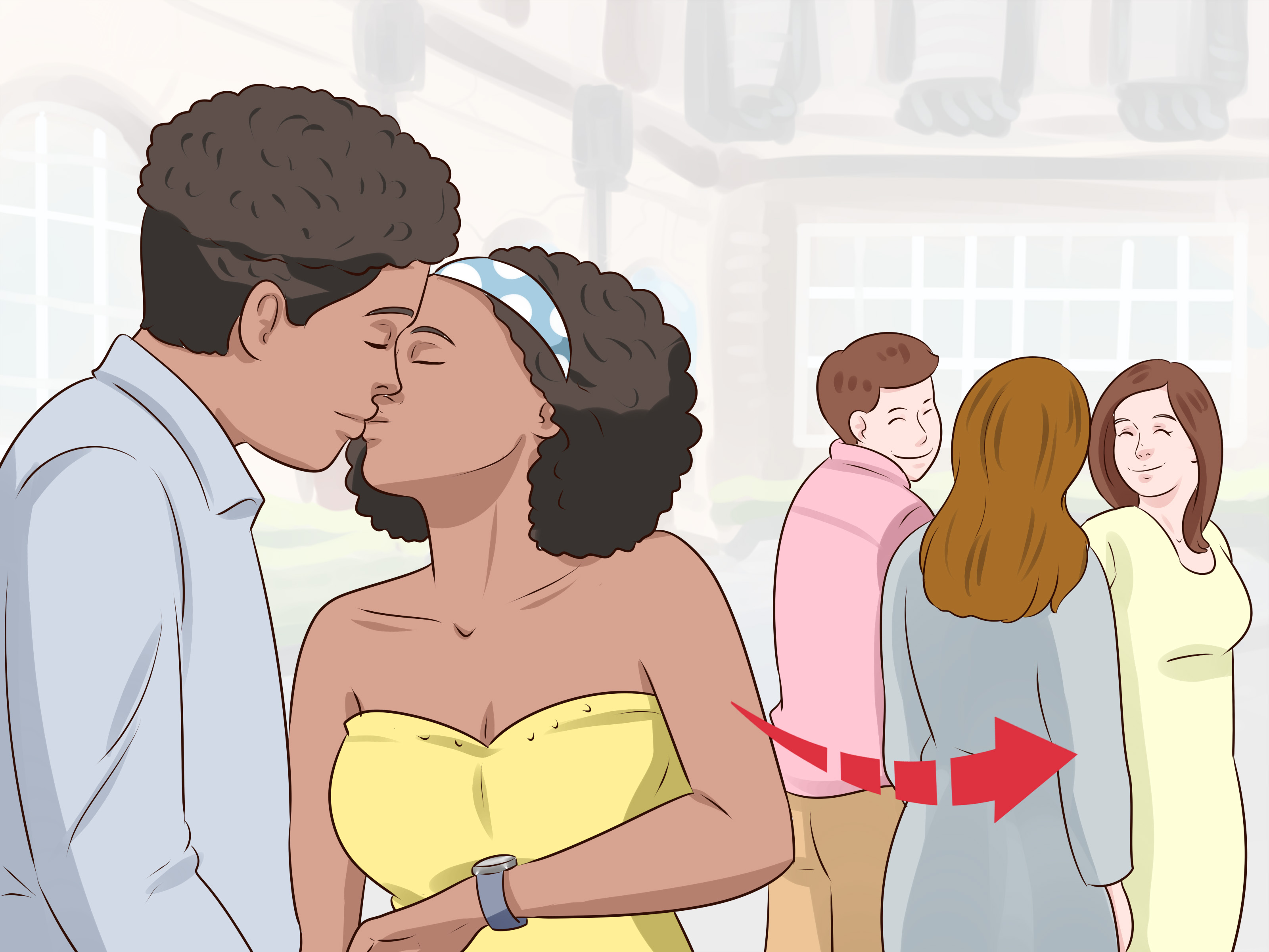 How to convince your girlfriend to kiss you